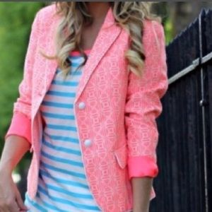 Pink patterned blazer from The Gap Small